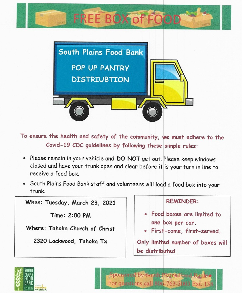 POP-UP PANTRY DISTRIBUTION