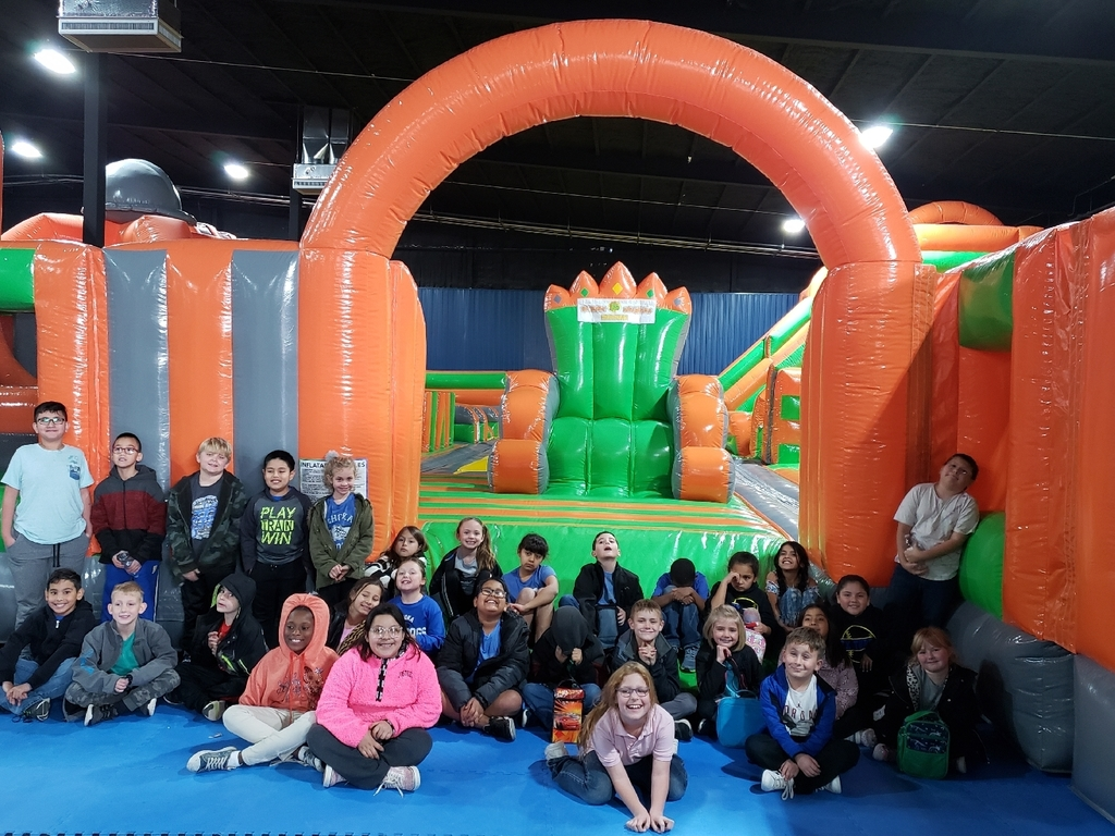 3rd grade Christmas party at Blazing Bouncers!