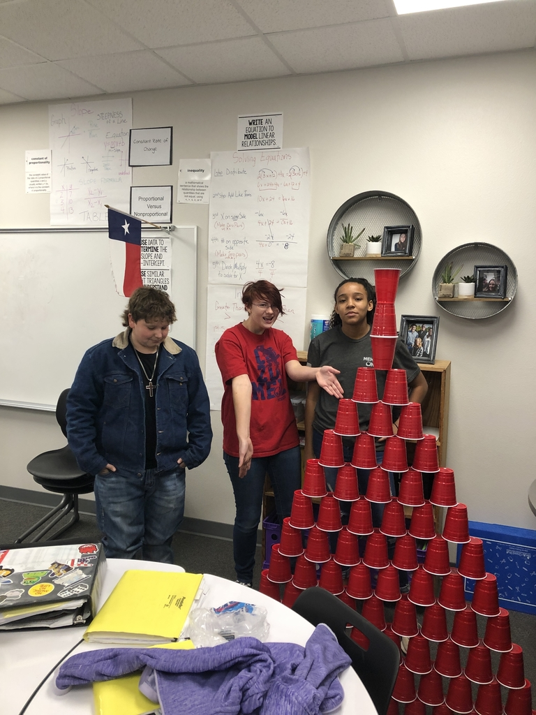 2nd period Solo cup challenge