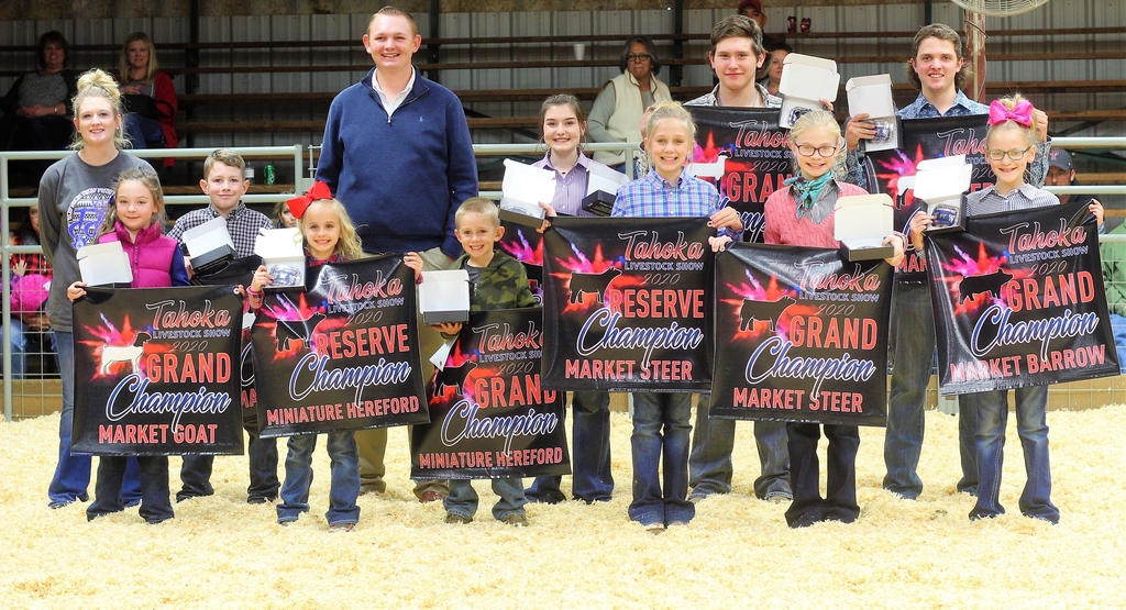 Grand and Reserve Grand Champions at the 2020 Tahoka Livestock Show