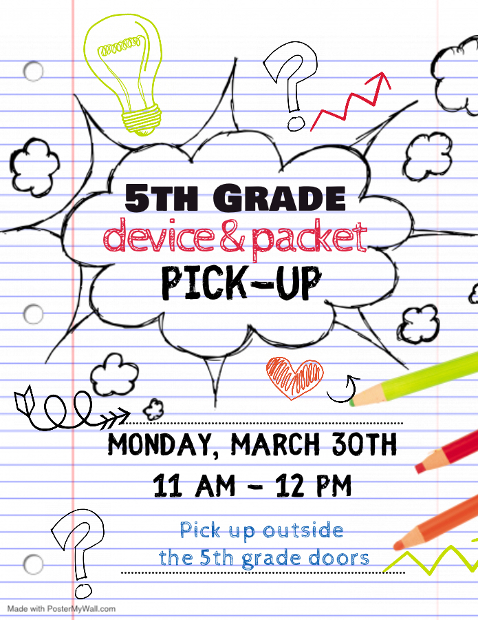 Pick up information for 5th grade